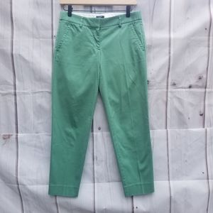 J. Crew Green City Fit Stretch Ankle Pants Size 0
